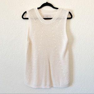 Loft Ivory Knit Tank Top Sweater